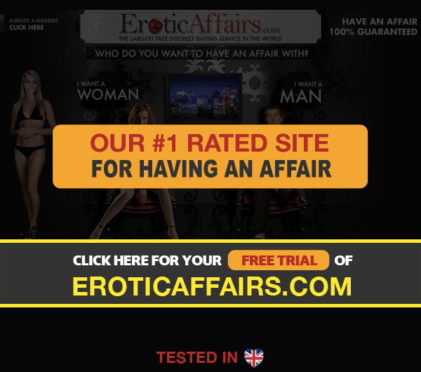 Screenshot of EroticAffairs Homepage