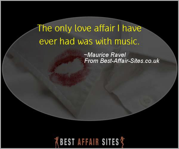 Having An Affair Quote - Maurice Ravel - Quotes quote image