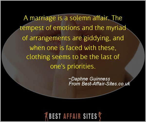 Having An Affair Quote - Daphne Guinness - Quotes quote image