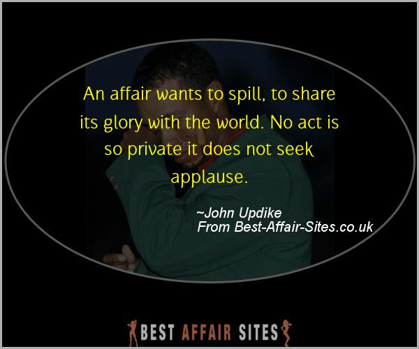 Having An Affair Quote - John Updike - Quotes quote image