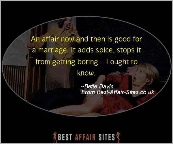 Having An Affair Quote - Bette Davis - Quotes quote image