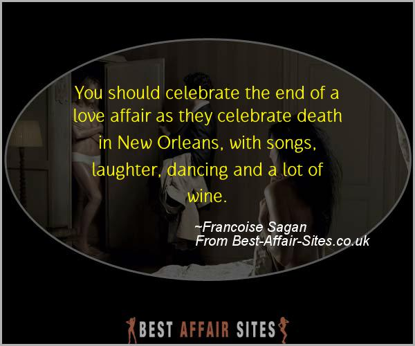 Having An Affair Quote - Francoise Sagan - Quotes quote image
