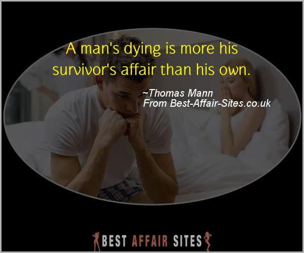 Having An Affair Quote - Thomas Mann - Quotes quote image