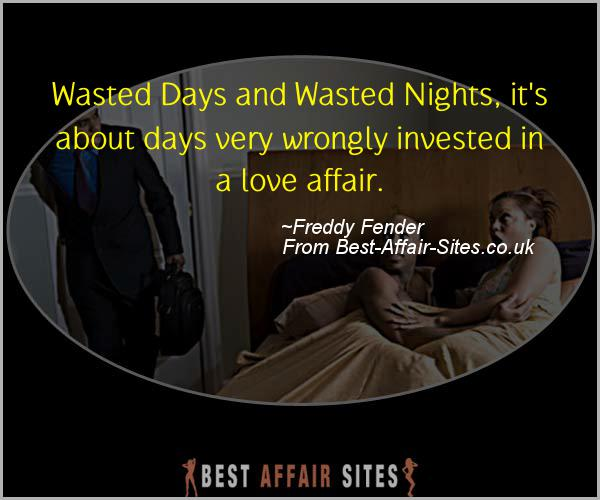 Having An Affair Quote - Freddy Fender - Quotes quote image