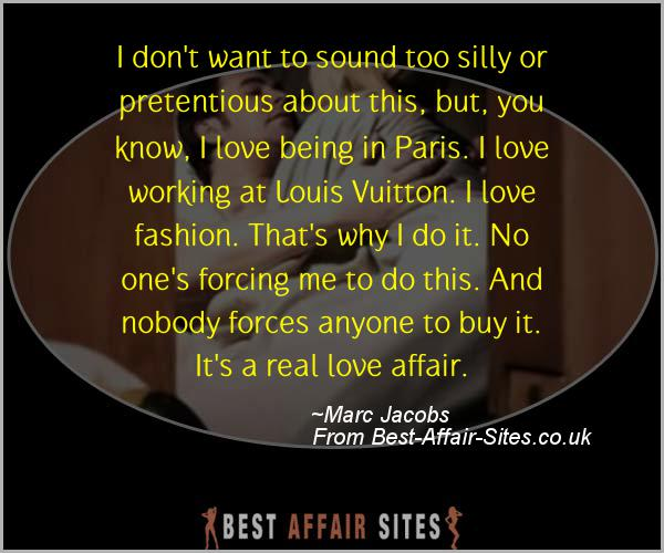 Having An Affair Quote - Marc Jacobs - Quotes quote image