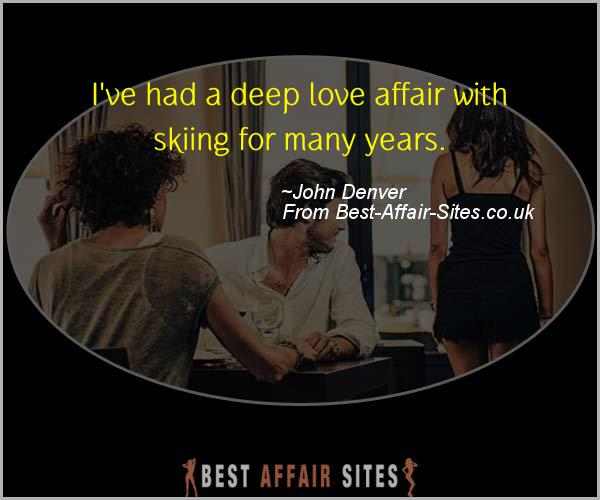 Having An Affair Quote - John Denver - Quotes quote image