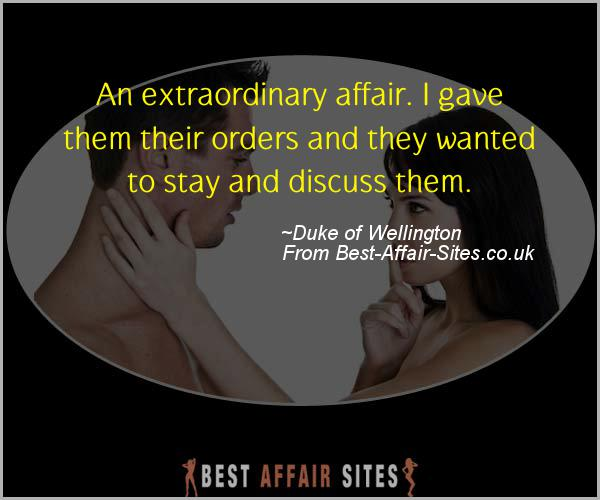 Having An Affair Quote - Duke of Wellington - Quotes quote image