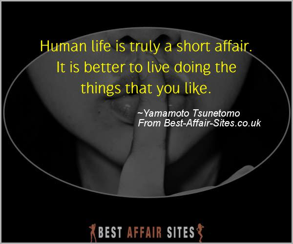Having An Affair Quote - Yamamoto Tsunetomo - Quotes quote image
