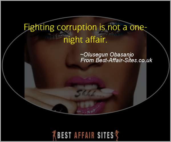 Having An Affair Quote - Olusegun Obasanjo - Quotes quote image