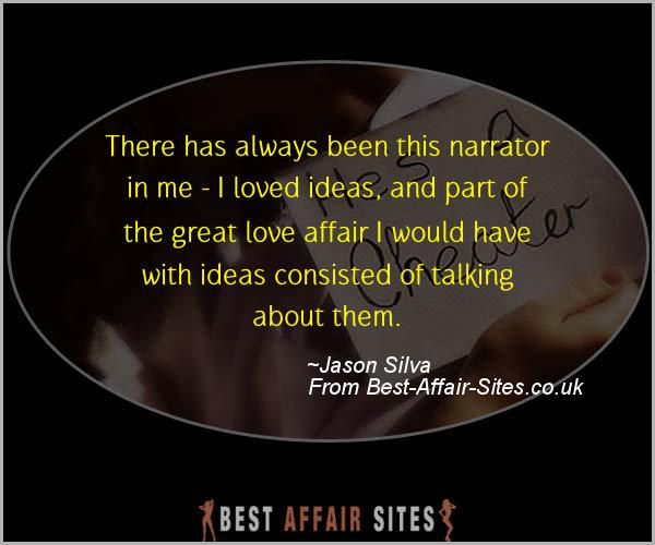 Having An Affair Quote - Jason Silva - Quotes quote image