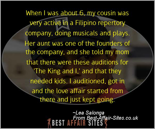 Having An Affair Quote - Lea Salonga - Quotes quote image