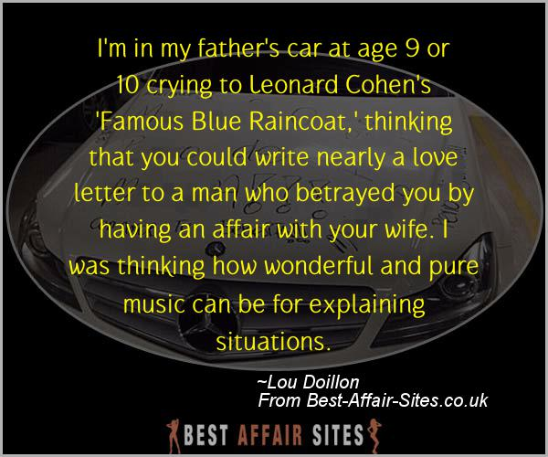 Having An Affair Quote - Lou Doillon - Quotes quote image