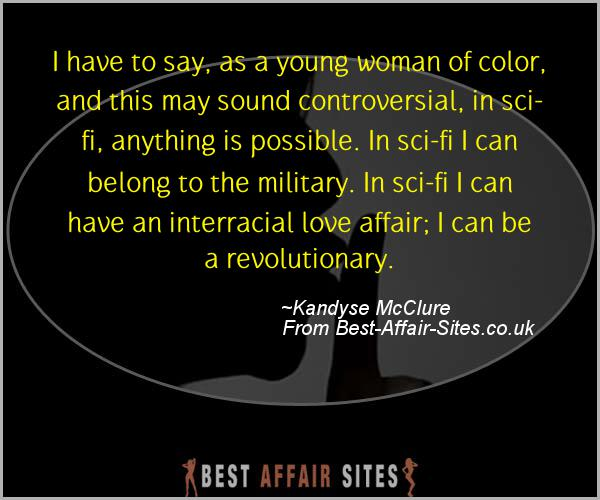 Having An Affair Quote - Kandyse McClure - Quotes quote image