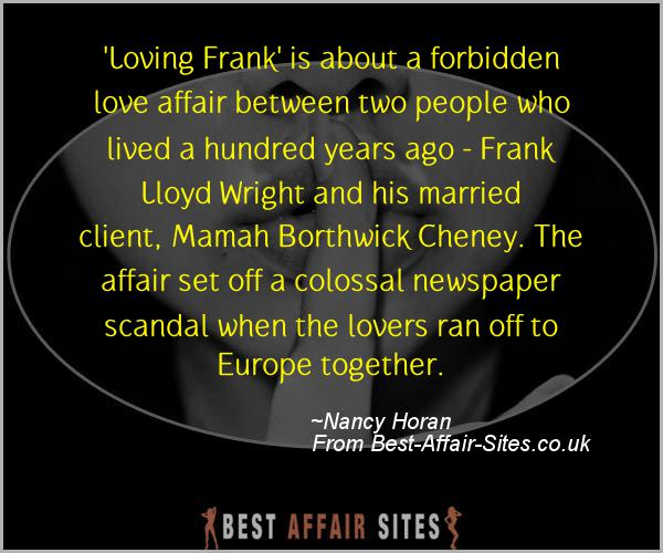 Having An Affair Quote - Nancy Horan - Quotes quote image