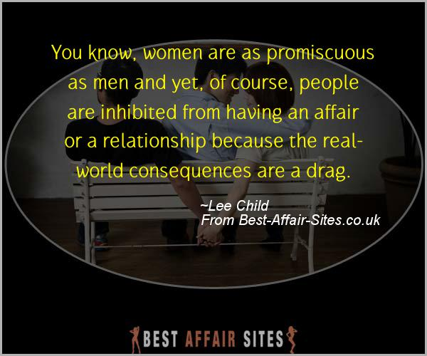 Having An Affair Quote - Lee Child - Quotes quote image