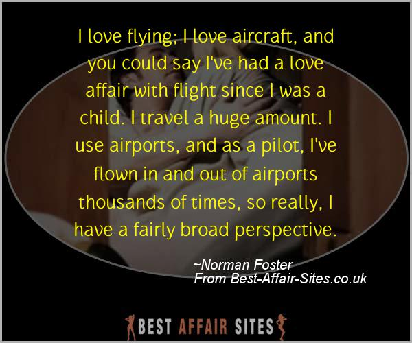 Having An Affair Quote - Norman Foster - Quotes quote image