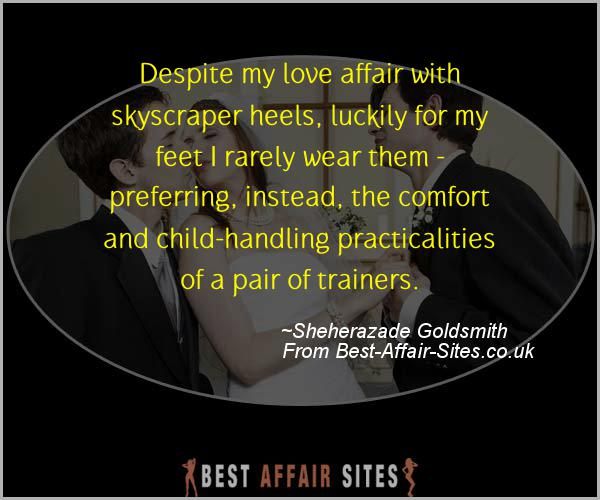Having An Affair Quote - Sheherazade Goldsmith - Quotes quote image